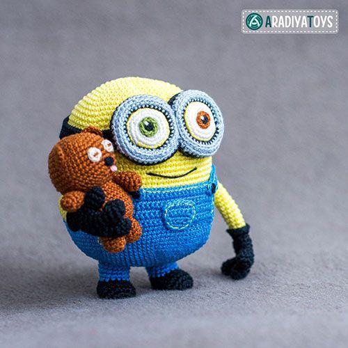Minion Bob and Bear Tim amigurumi pattern by AradiyaToys   Tejido ...