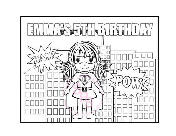 Personalized Printable SuperHero Girl Boy Birthday Party ...