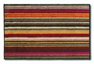 Missoni Home Jazel 156 Orange Brown Striped Bath Rug Striped