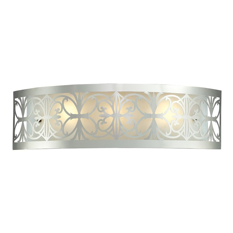 westmore lighting 3 light lowell polished chrome and frosted glass