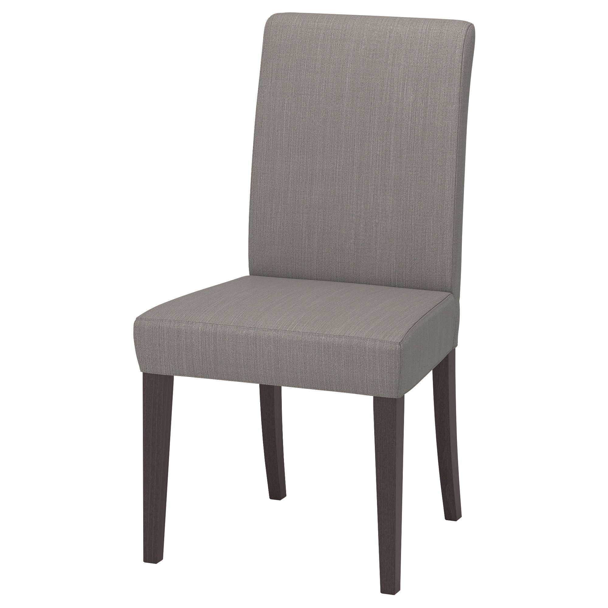 IKEA HENRIKSDAL Dark Brown, Nolhaga Gray Beige Chair | Ikea