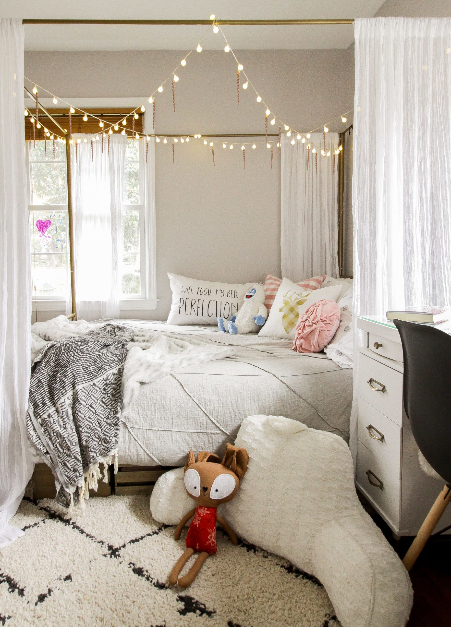 Christmas In The Kids Rooms Christmas Decorations Bedroom Redecorate Bedroom Cute Room Decor The girls christmas bedroom