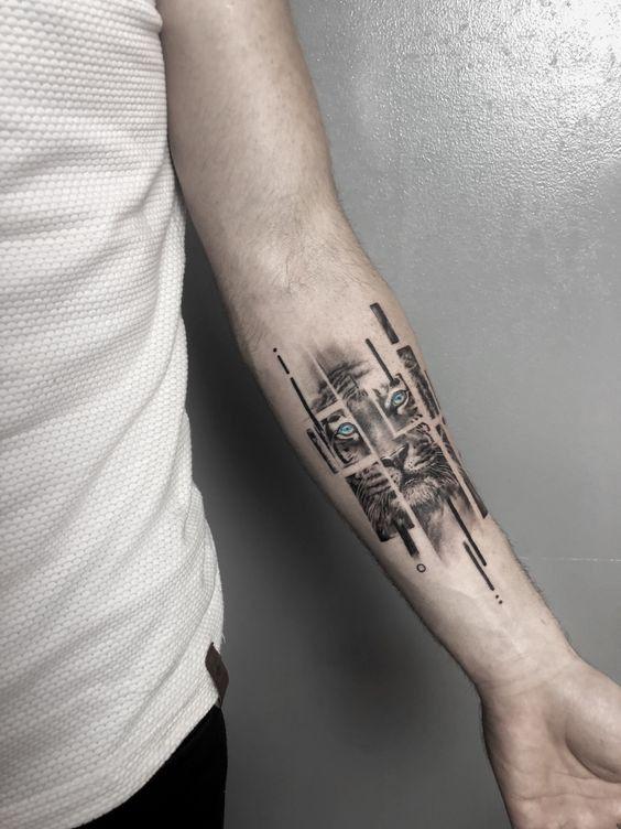 wrist tattoo, lion tattoo, wrist lion tattoo