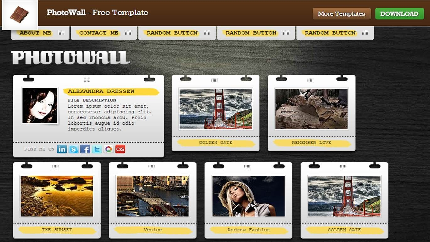 Fotowall http://chocotemplates.com/demo/?template=photowall | HTML ...