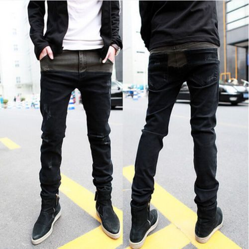 Fashion Men Stylish Designed Korean Stylish Slim Fit Casual Long Pants  Jeans New