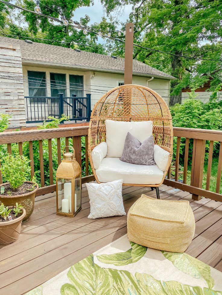 Egg Chair Patio Outdoor Oasis in 2020 Patio chairs