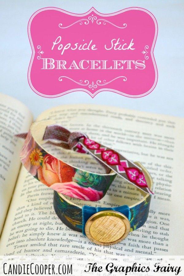 How to make popsicle stick bracelets | LOVE <3 | Pinterest ...