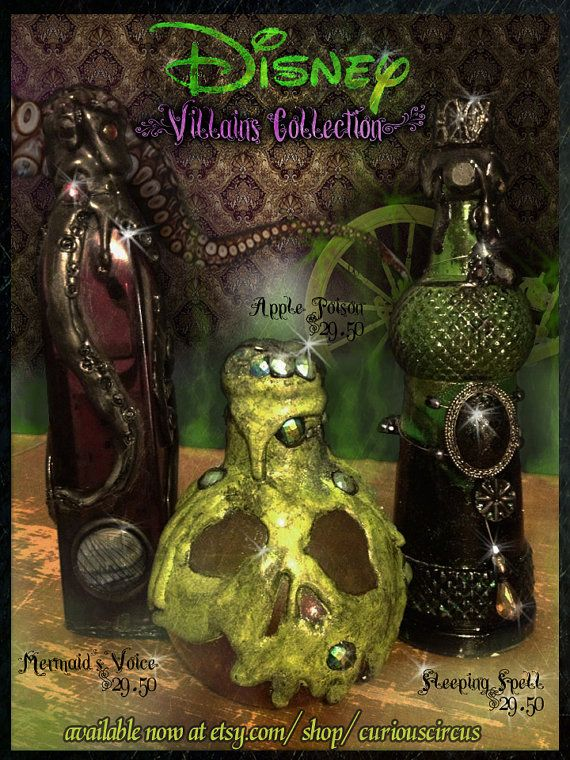 Disney Villain Inspired Potion bottle collection by CuriousCircus, $29.50