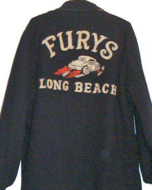Car Club Jacket Fury S Long Beach 1950 S Club Jackets