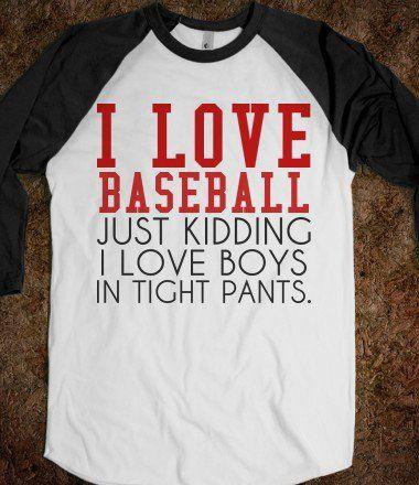 lol. but no, i actually love baseball. ❤