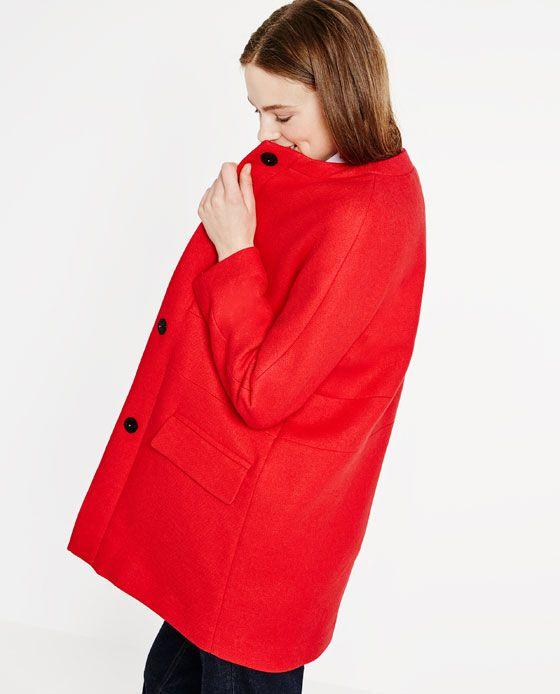 0ee2392e Image 2 of COAT WITH KIMONO SLEEVES from Zara | Fashion | Coat ...