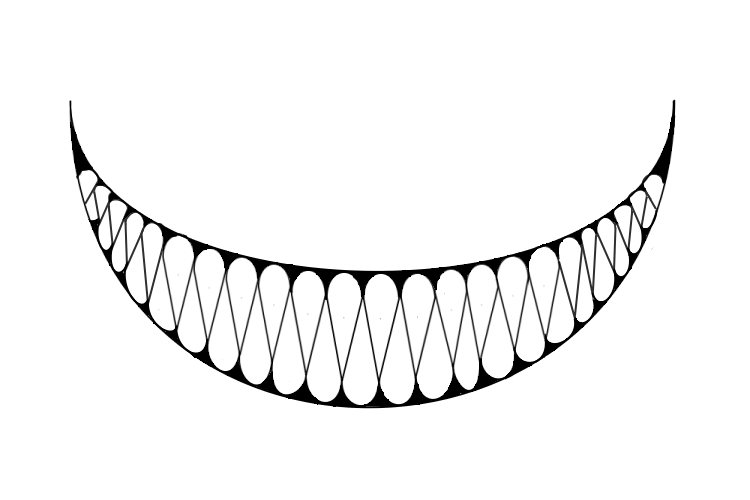 Pin By Jordan Foreman On Stitches Evil Smile Smile Drawing Monster Mouth