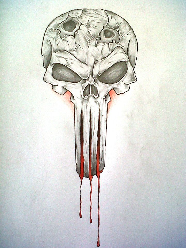 Doodle diaries the punisher doodle diaries pinterest