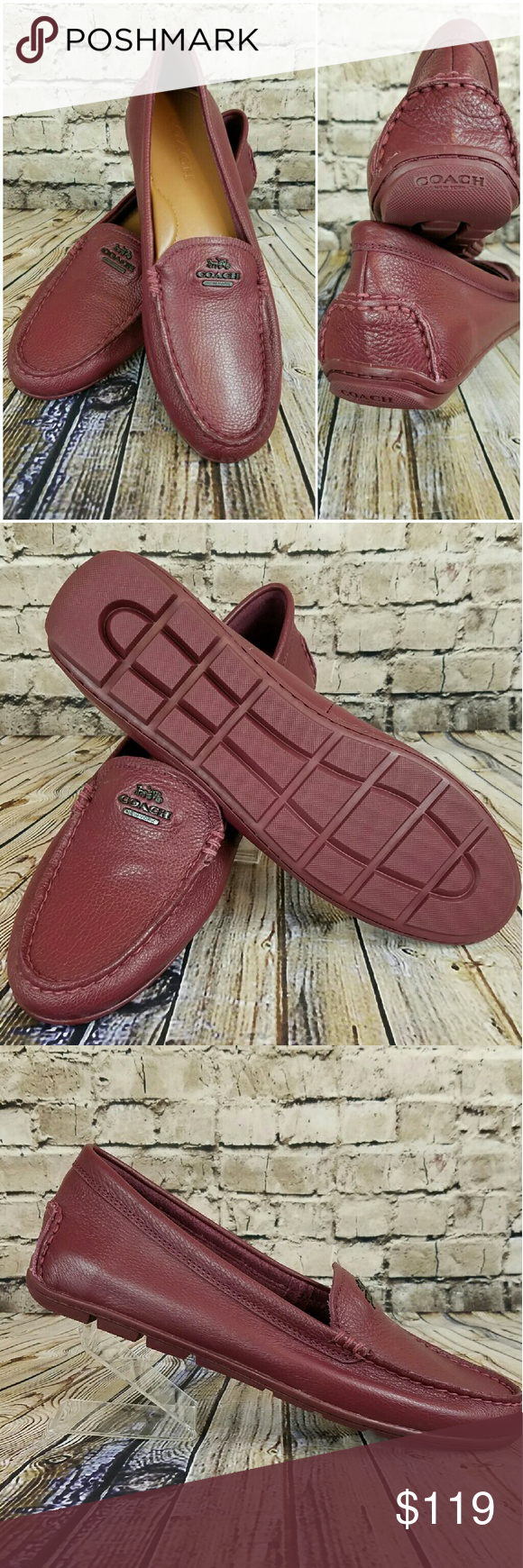 8ddc1d60def New COACH Mary Lock Up Driving Loafer in Wine New
