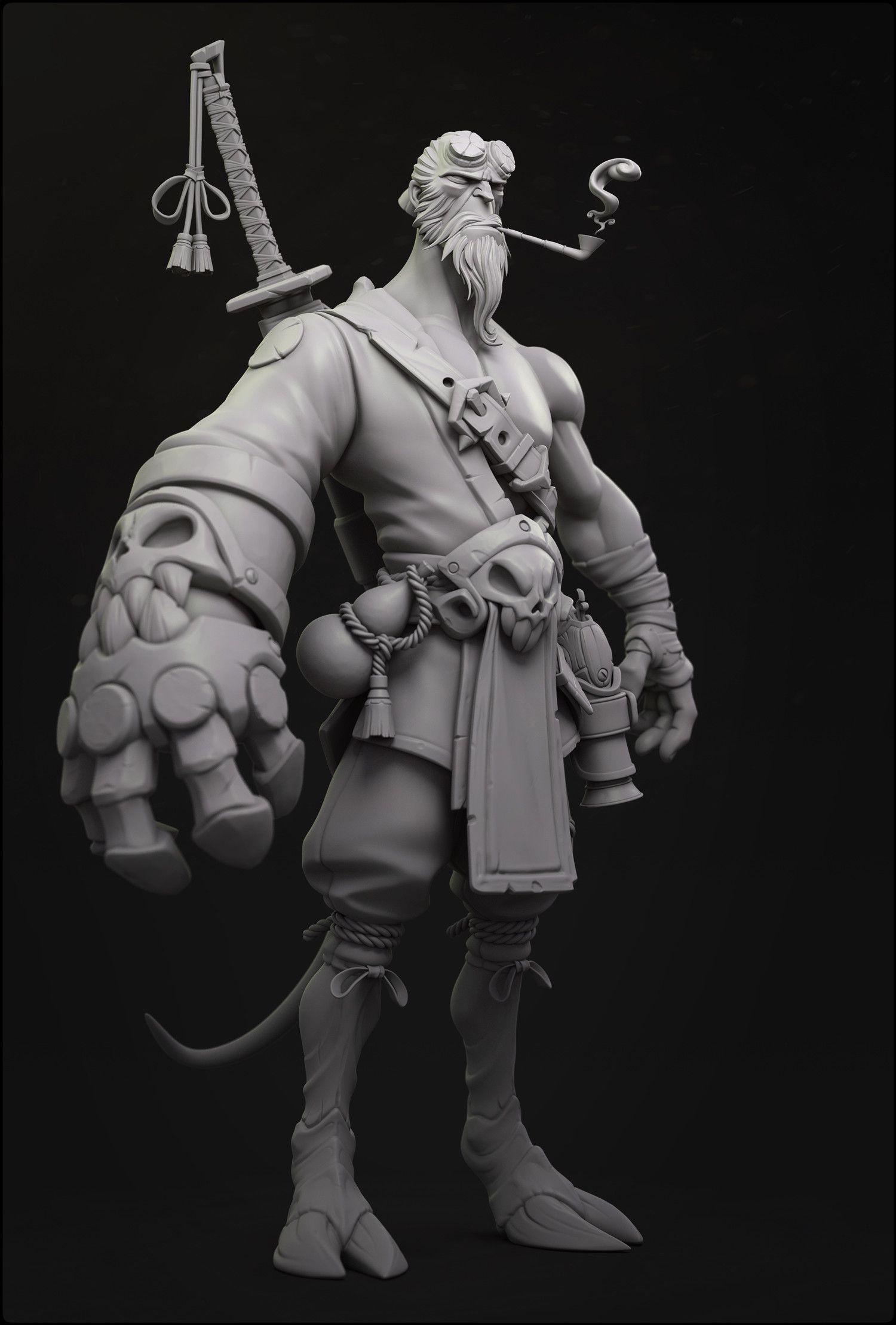 afc8ed975f9 ArtStation - Hellboy Concept Sculpt, Hans Kristian Andersen | Art in ...
