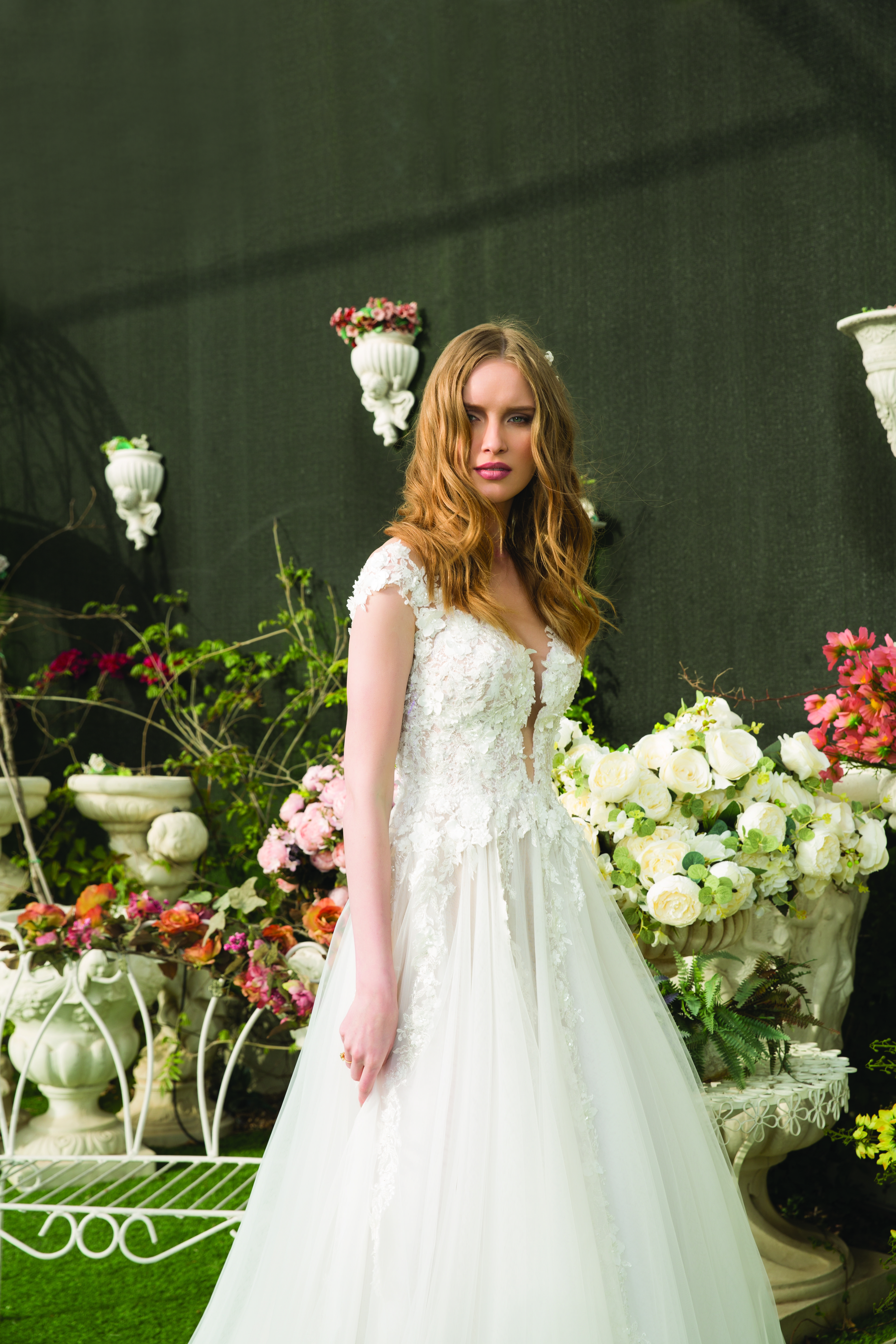 """Michal Medina 2018 """"Alice in Wonderland"""" bridal collection 