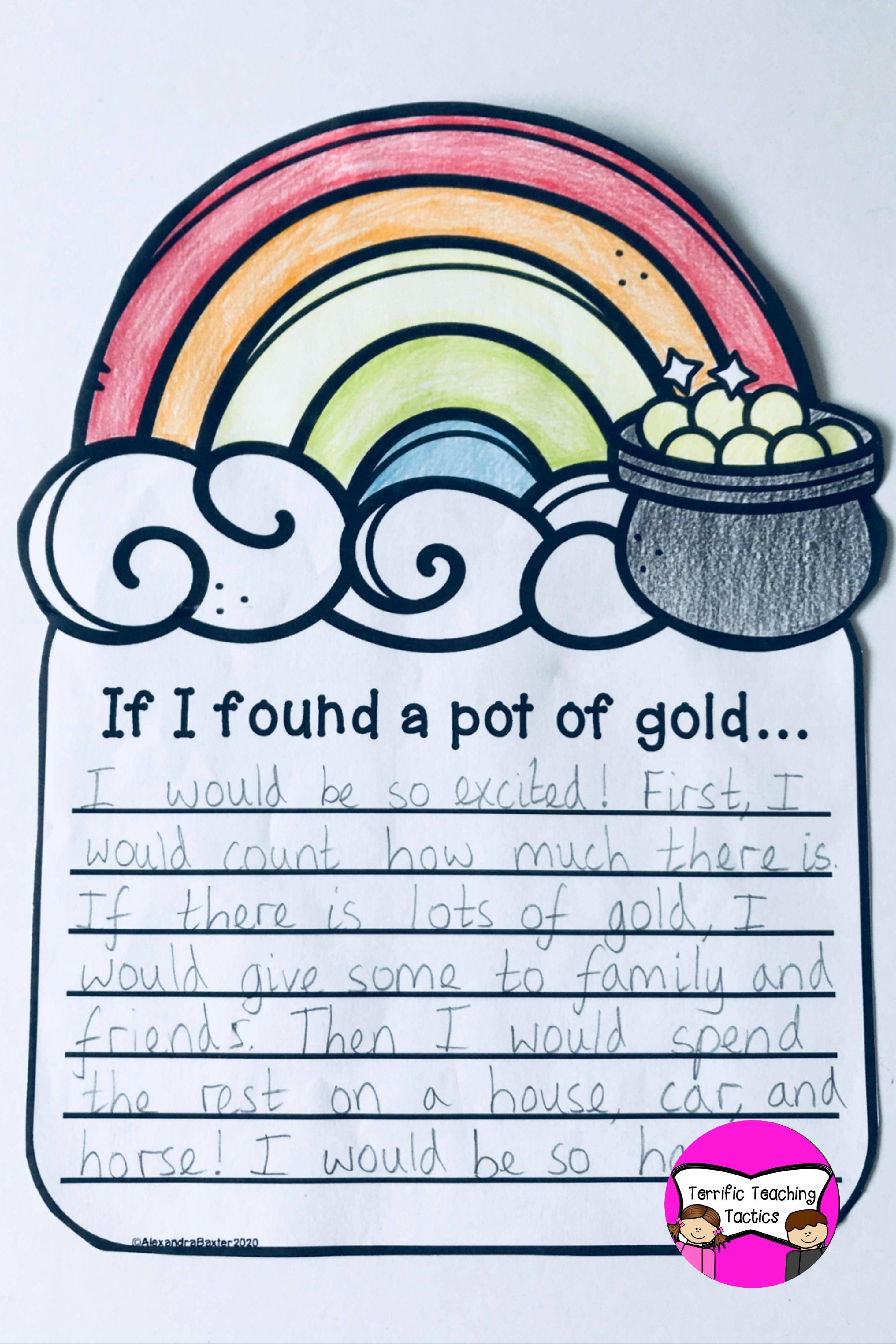 St Patrick S Day Craftivity 3 No Prep Writing Prompts