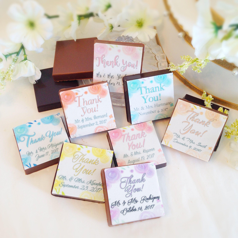 Personalized Chocolate Wedding Favors - Chocolate Thank You Wedding ...