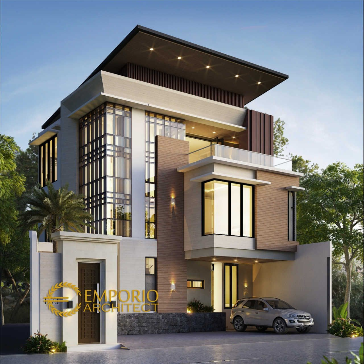 Mr Yanuarso Private House Design Jakarta In 2020 Modern Minimalist House House Front Design Contemporary House Plans