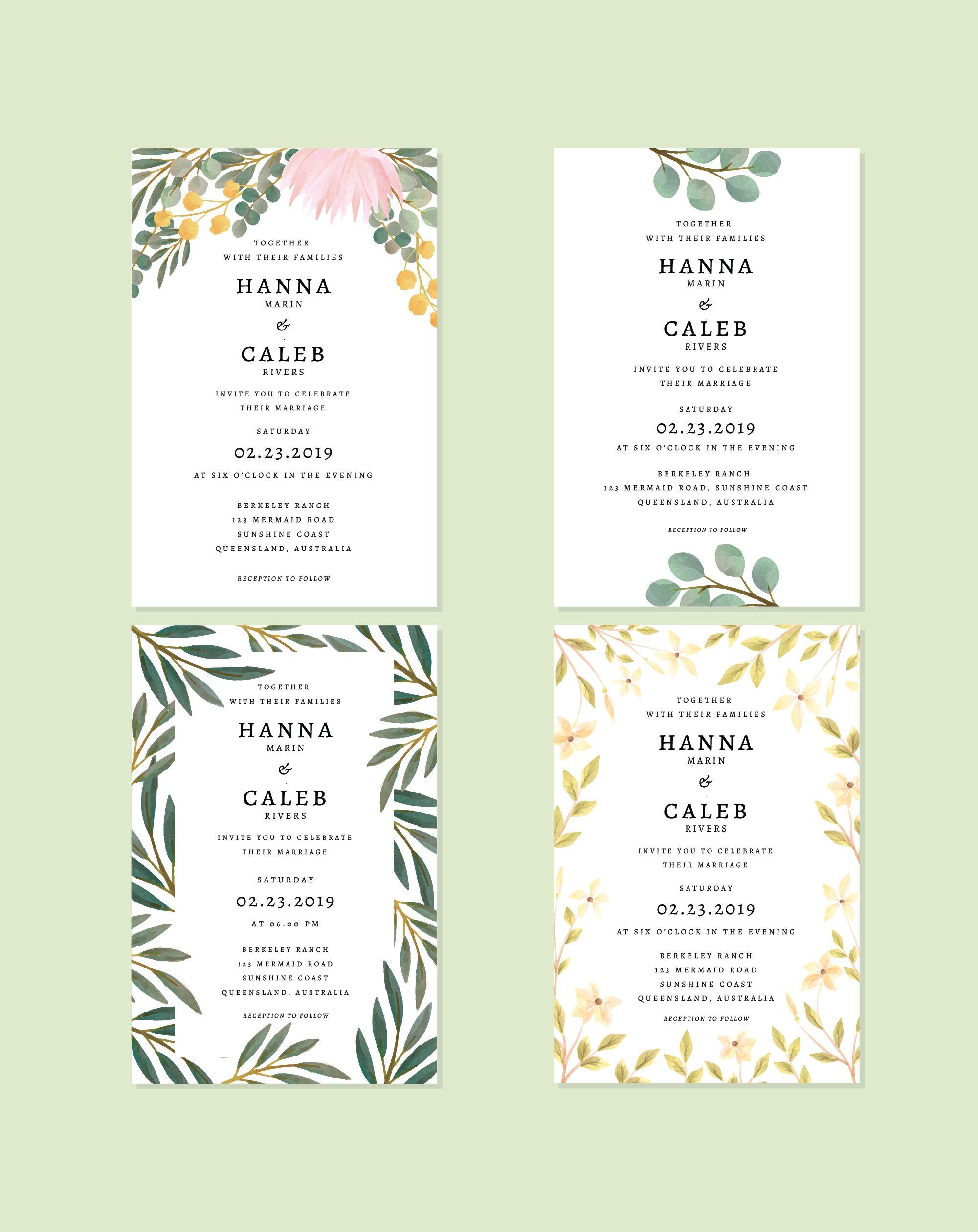 Botanical Wedding Invitation 99designs Wedding Cards Wedding Invitations Australia Botanical Wedding Invitations
