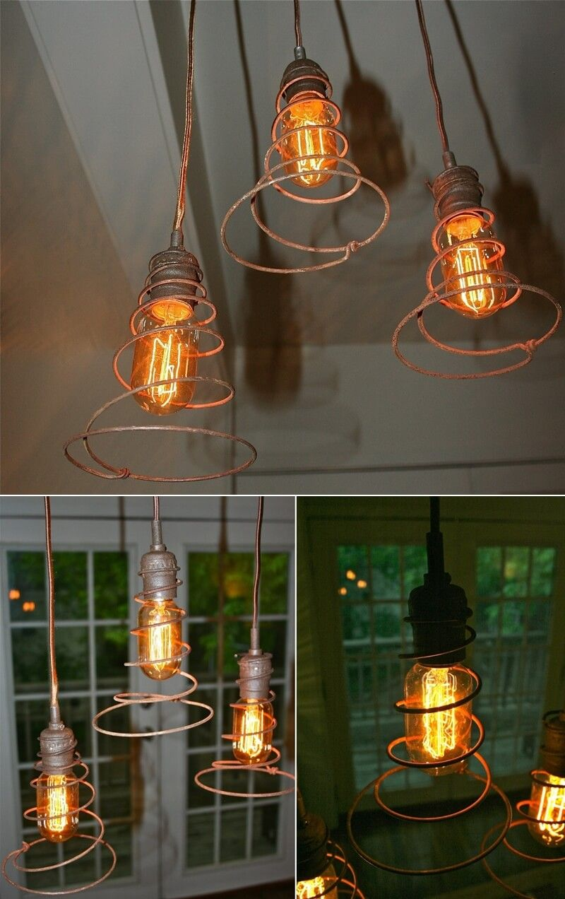 into lighting. Industrial Lighting Fixtures Urban Hardware\u0027s Etsy Shop Has Shown A Great Way To Use Bed Springs Turn Ordinary Bulbs Into That Can Give I