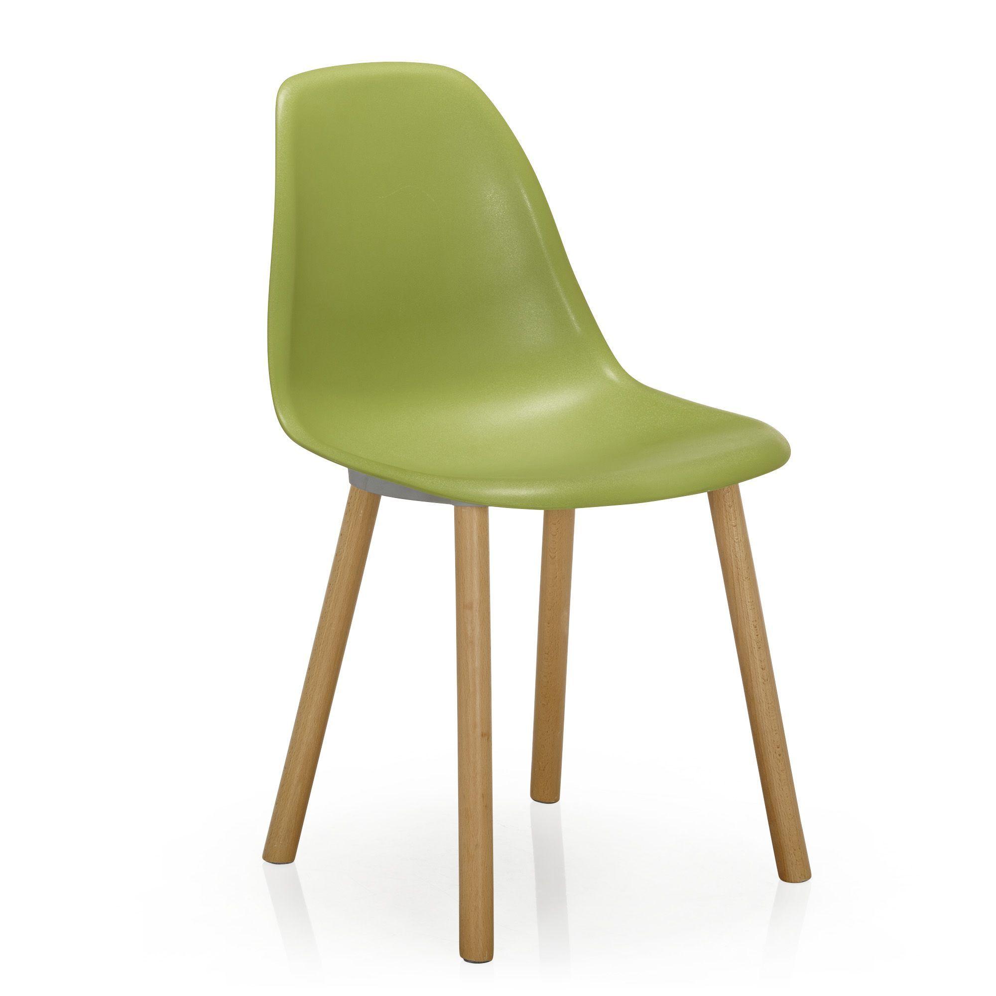 chaise verte avec pitement en bois design scandinave vert hop chaises tables et - Chaise Verte
