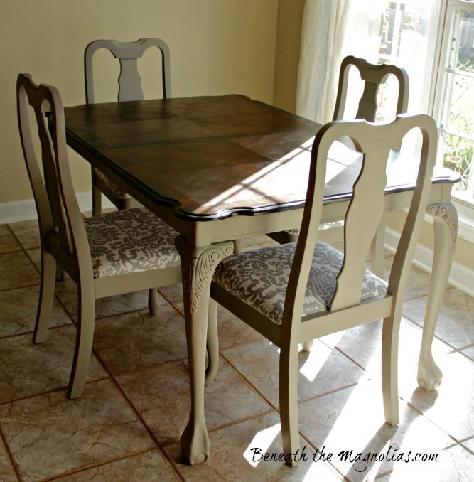 Refinished Dining Table And Chairs
