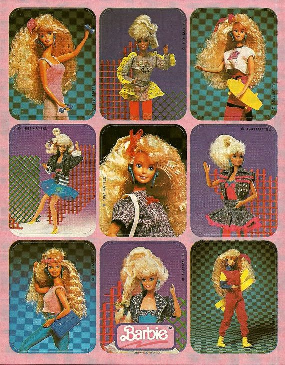 Vintage 80's Barbie Sticker Sheet  $2.75 etsy