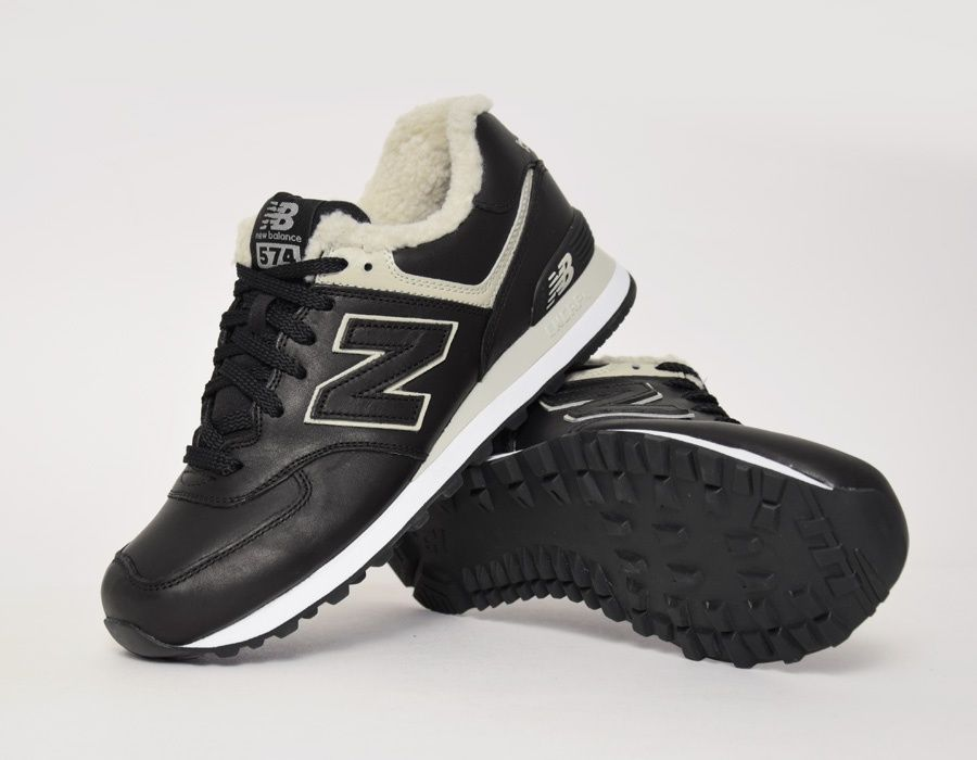 #NewBalance 574 BL Fur Black #sneakers