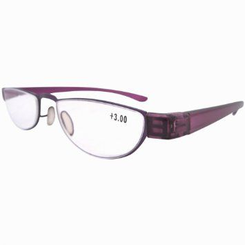 5ccf02f4652 Eyekepper Non Prescription Stainless Steel Frame Plastic Temple Women s Reading  Glasses Purple+1.25  Amazon