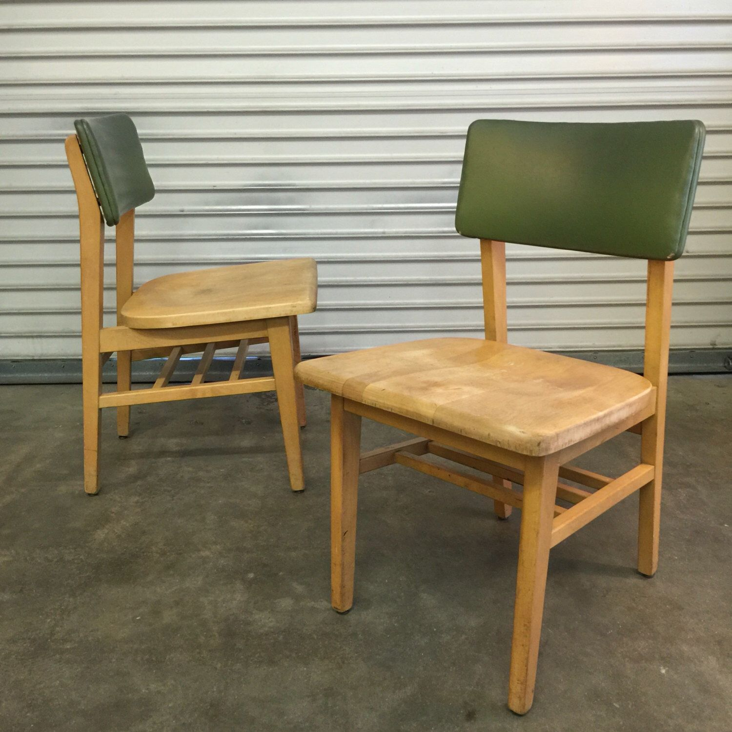 Mid Century Library Furniture Vintage fice Chairs Wooden