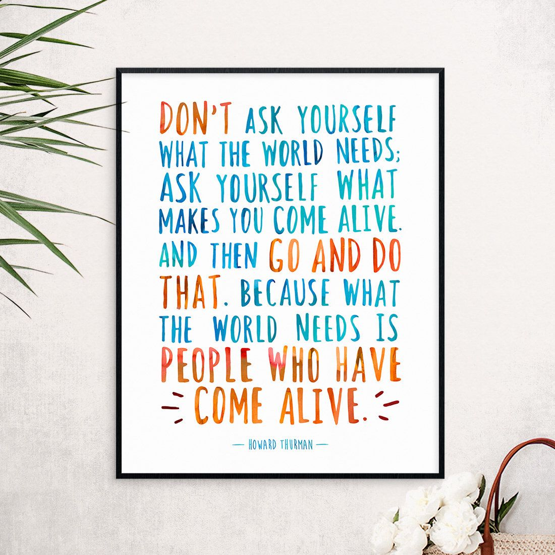 Motivational print, Inspirational quote art, Typography
