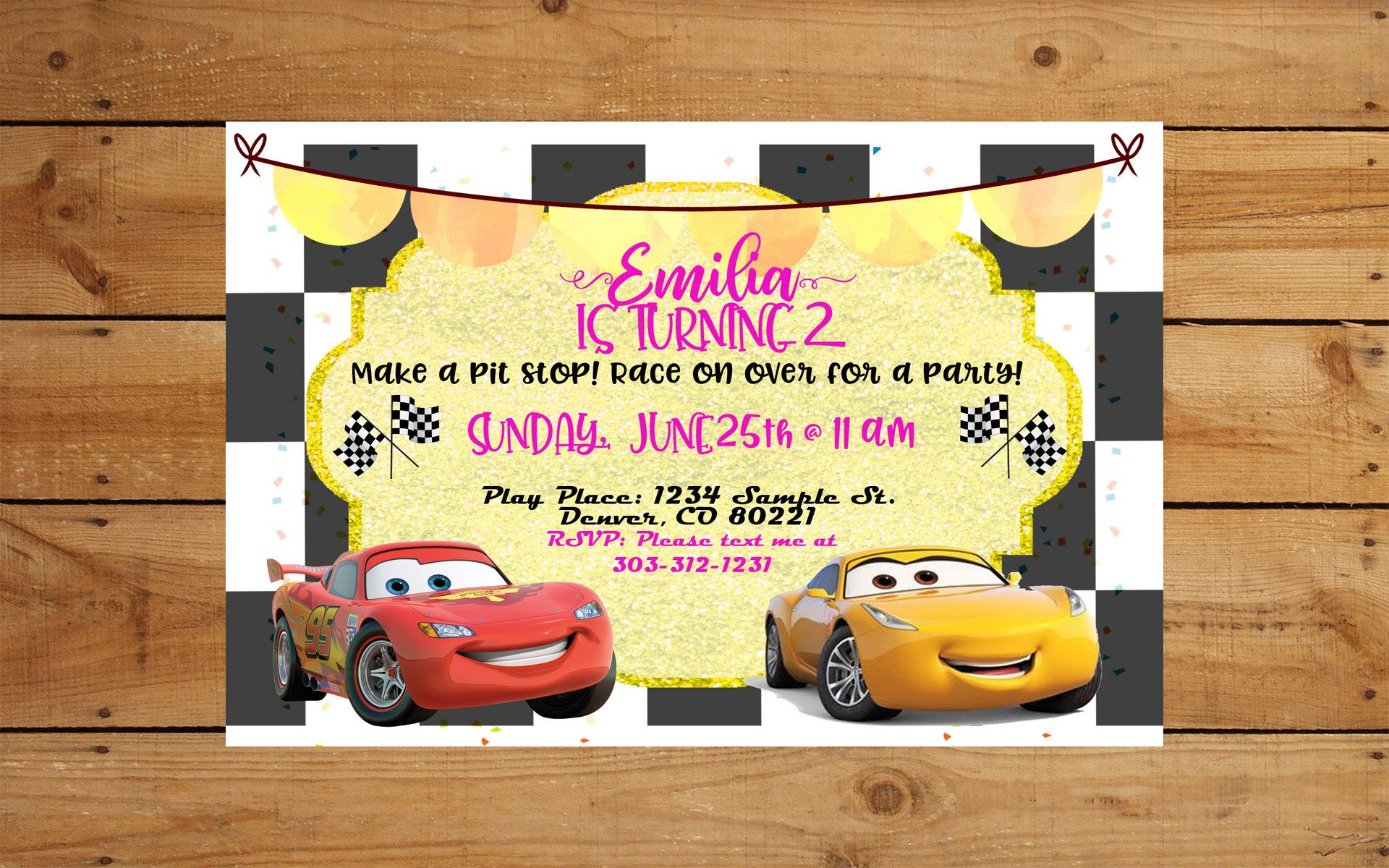 CARS 3 Party Invite