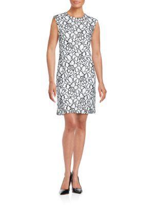 KARL LAGERFELD Crewneck Sleeveless Dress. #karllagerfeld #cloth #dress