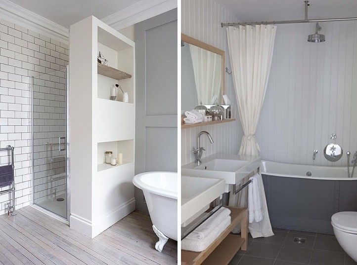 Master Bath If Ever Redo And Use Free Standing Tub Like This Storage Wall Between Shower And