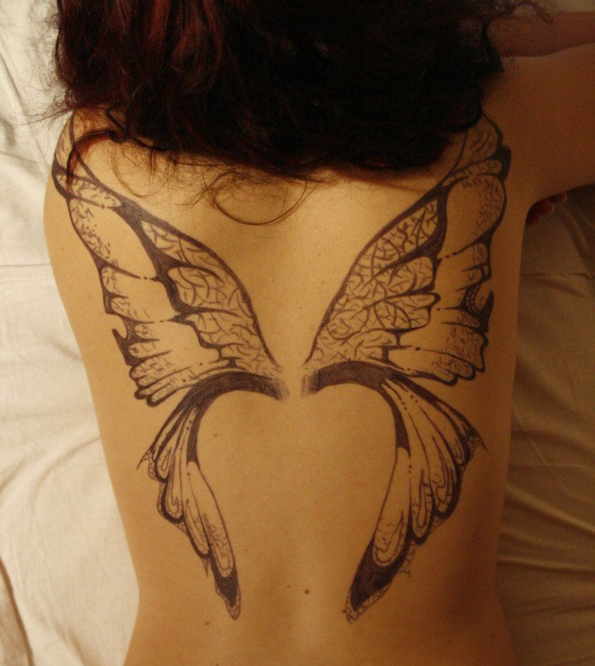 Back+Wing+Tattoo+Female | ... Wing Tattoo Designs Women ...