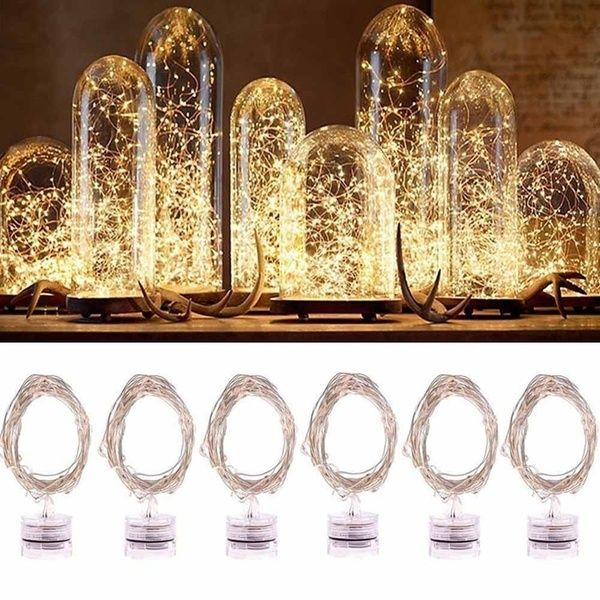 20 White LED Bulb Micro light battery power wedding table centrepiece 2mtr long