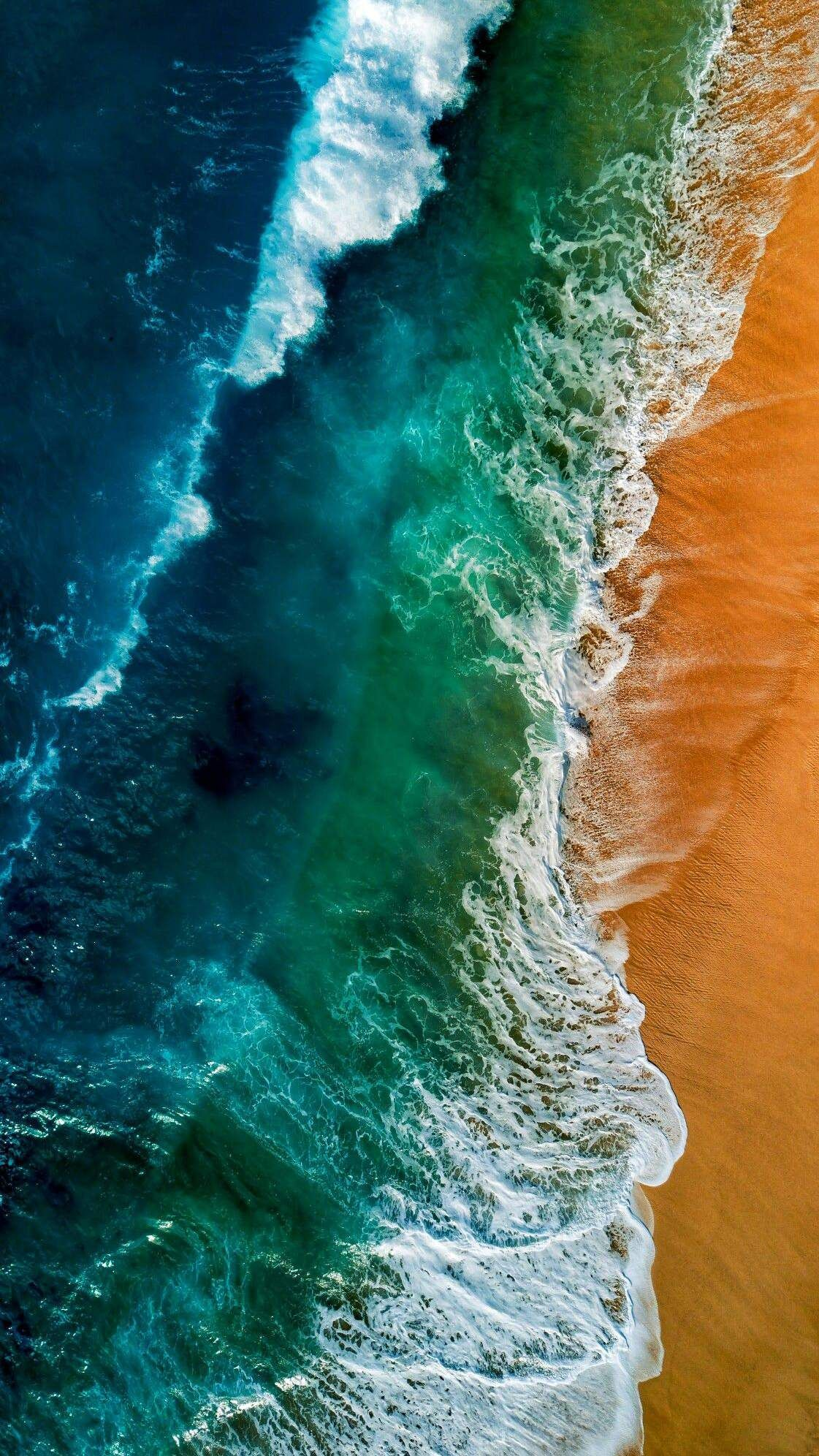 Beach Ocean Waves Sky View Iphone Wallpaper Iphone Wallpaper Earth Ocean Wallpaper Wallpaper Pictures