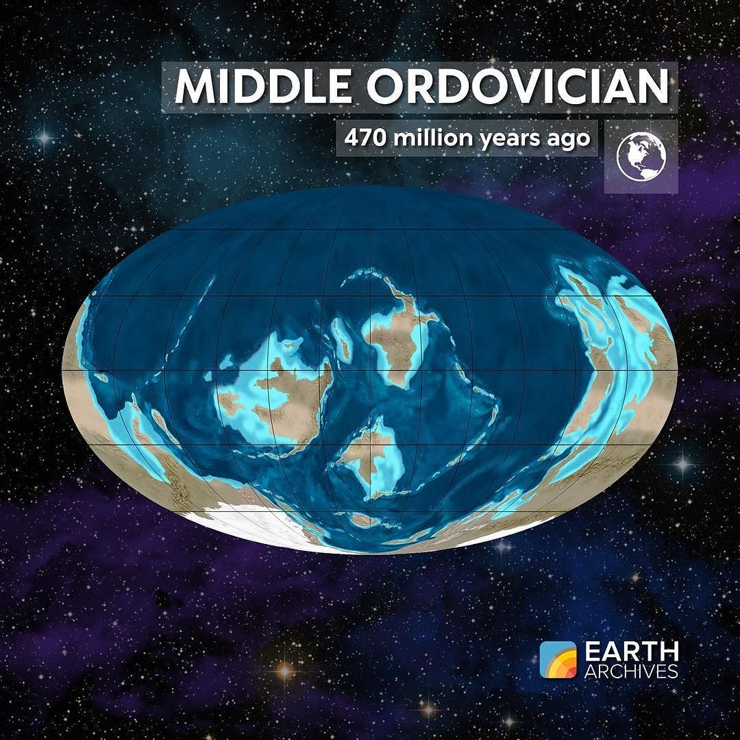 Earth Sciences: By The Middle Ordovician 470 Million Years Ago Life On