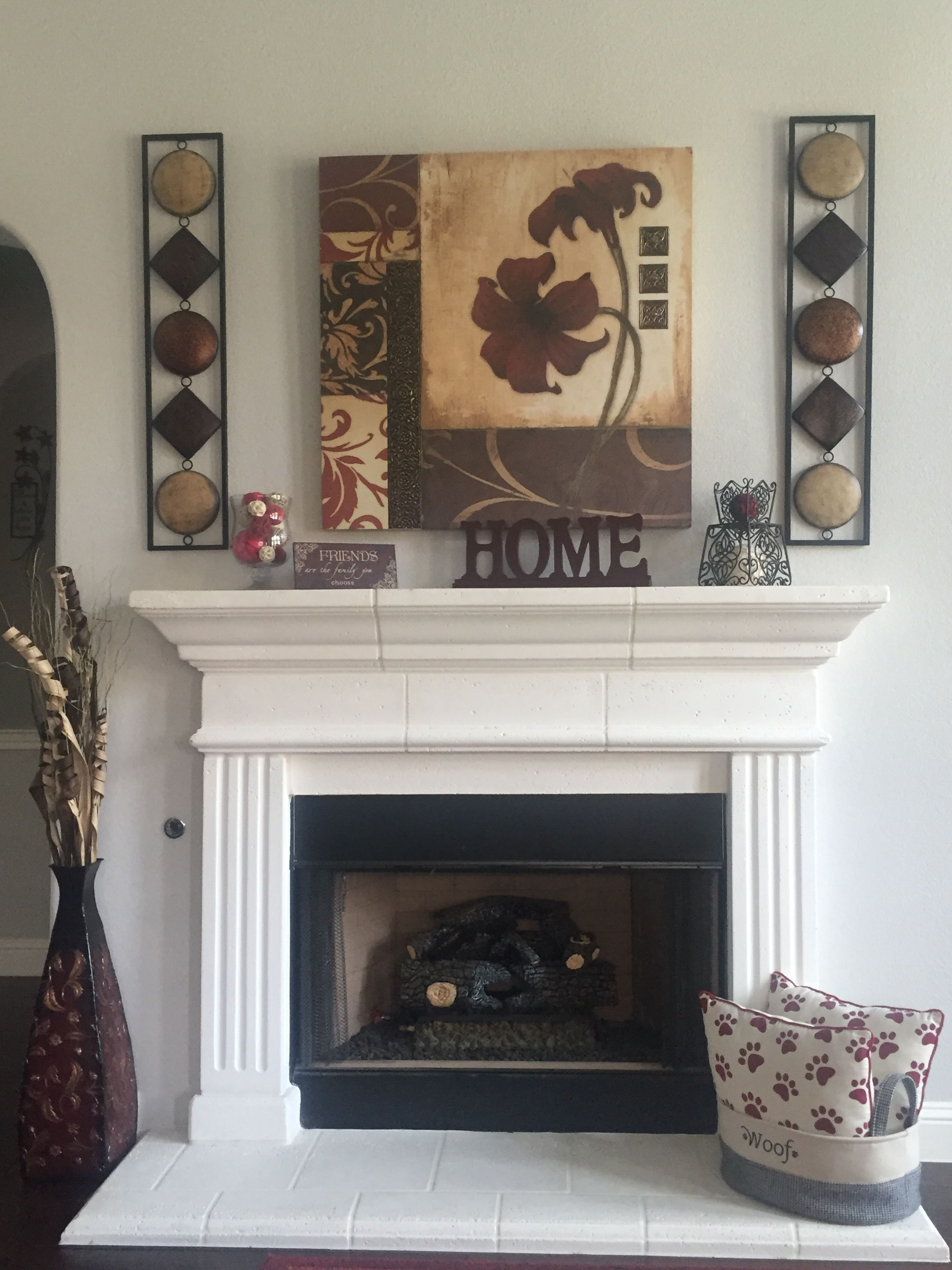 Fireplace mantel decorating in fireplace mantels decor