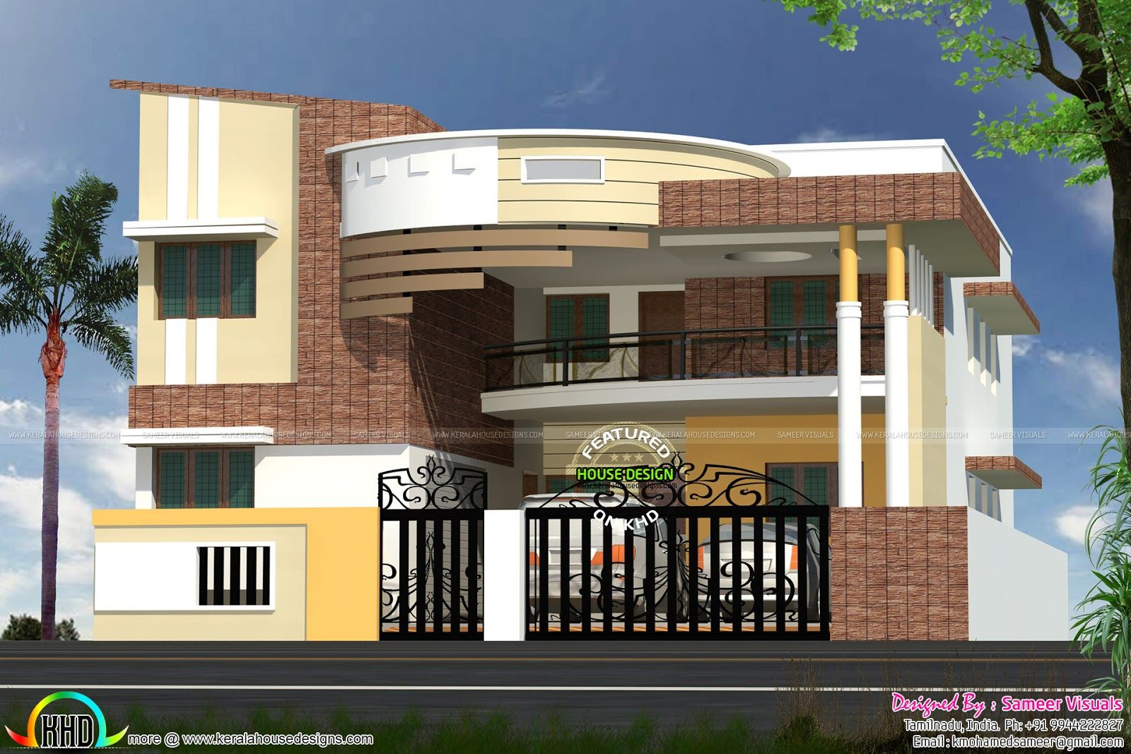 contemporary-south-india-house.jpg (1600×1067)   Small ...