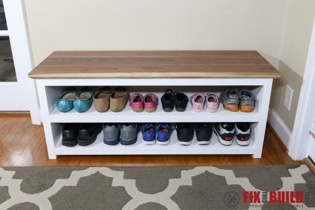 You Can Build This Diy Entryway Bench With Shoe Storage And Organize Your House Detailed Plans A Full Video Walkthrough Are Available For Project