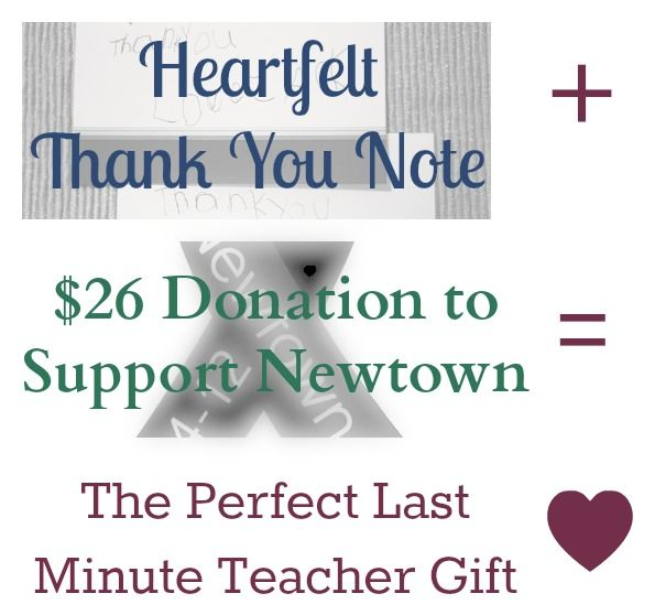 Perfect Last Minute Teacher Gift Teacher and Gift - thank you notes for donation