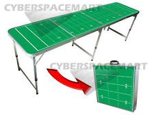 8 Ft Portable Tailgate Table - Football Theme - OUTDOOR TAILGATE BBQ BDAY PARTY