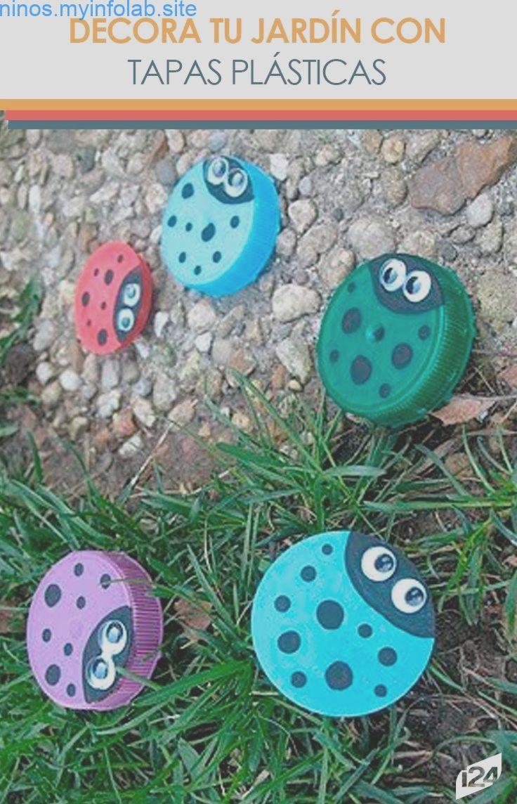 Proyecto de reciclaje: Bonitas mariquitas para el jardín con tapas plásticas Proyecto de reciclaje: Bonitas mariquitas para el jardín con tapas plásticas,