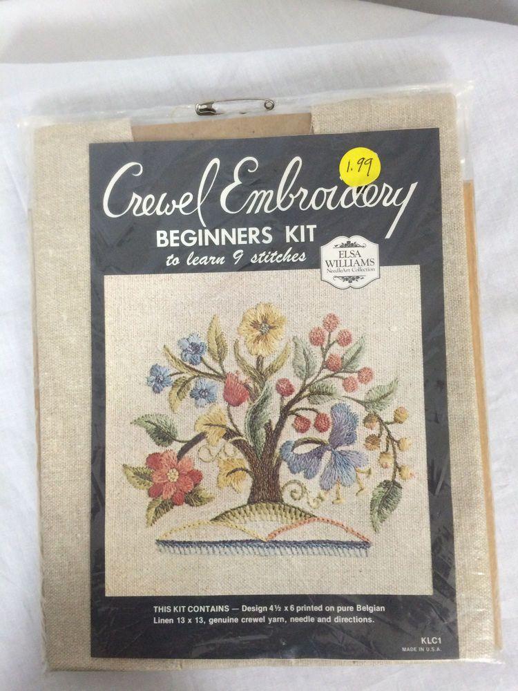 49 Elsa Williams Crewel Embroidery Beginners Kit Klc1 Tree New In