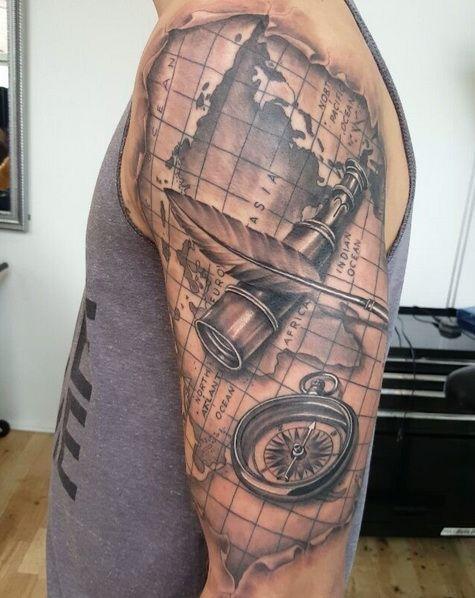 tud utopian tattoo tribe ir nyt pinterest tattoo ideen kompass tattoo und kompass. Black Bedroom Furniture Sets. Home Design Ideas
