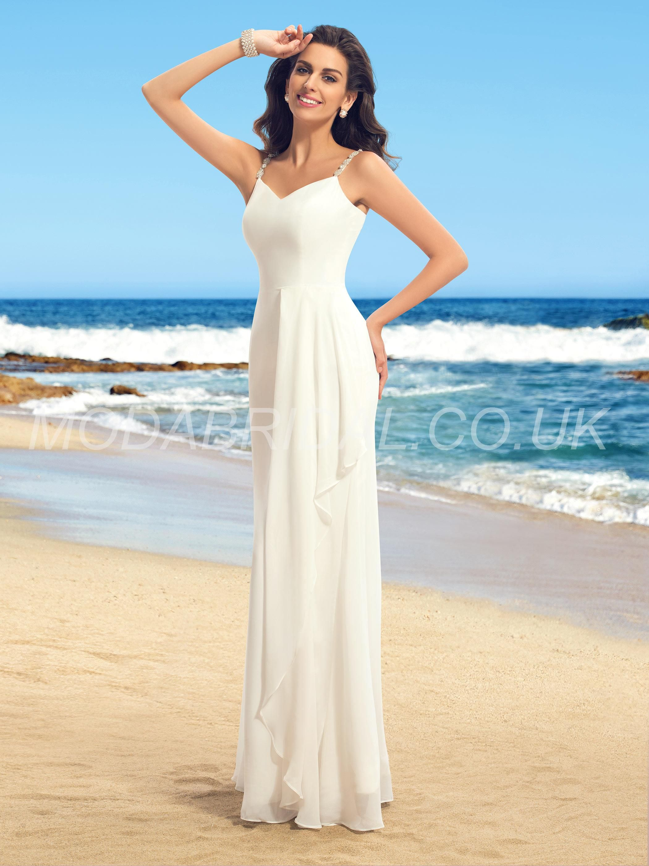 Fashion style Dresses Wedding for beach weddings uk for lady