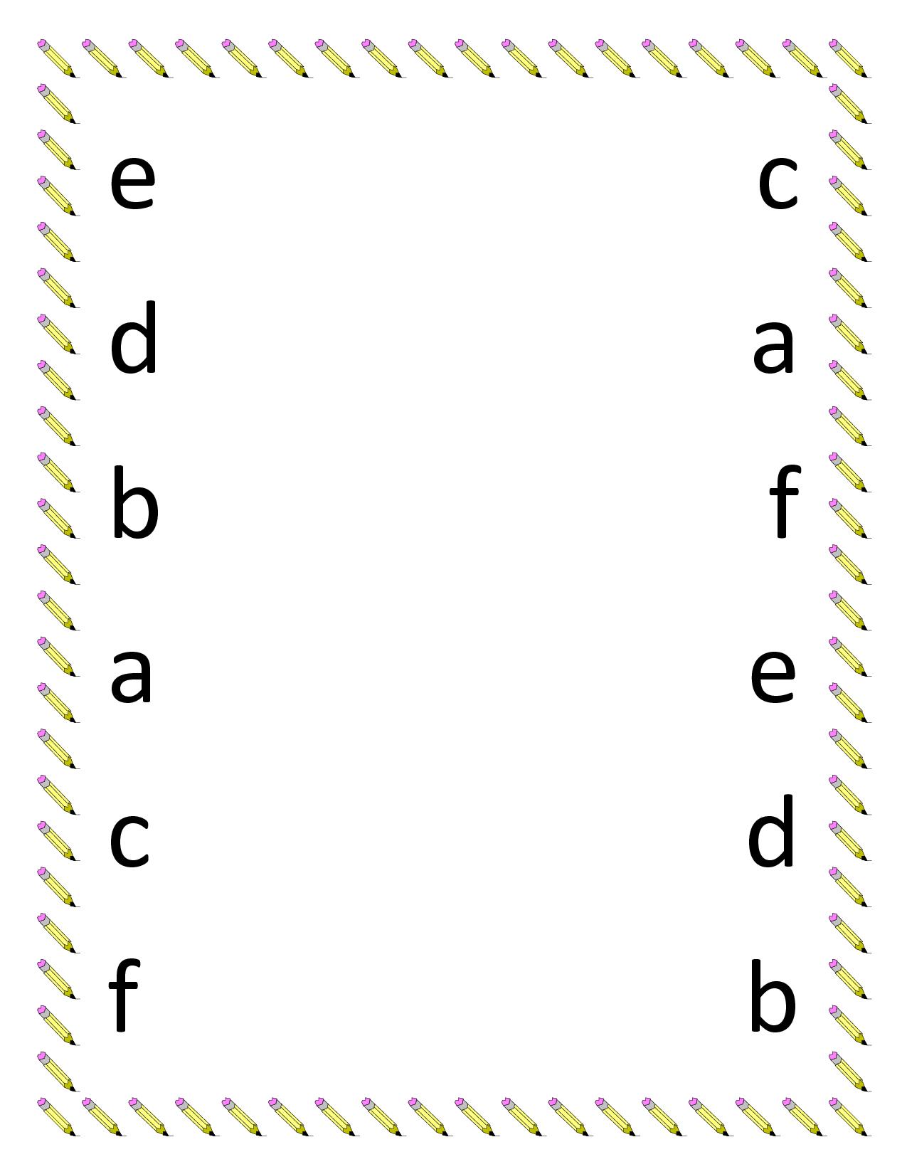preschool science worksheets printables preschool matching worksheets lowercase letter. Black Bedroom Furniture Sets. Home Design Ideas