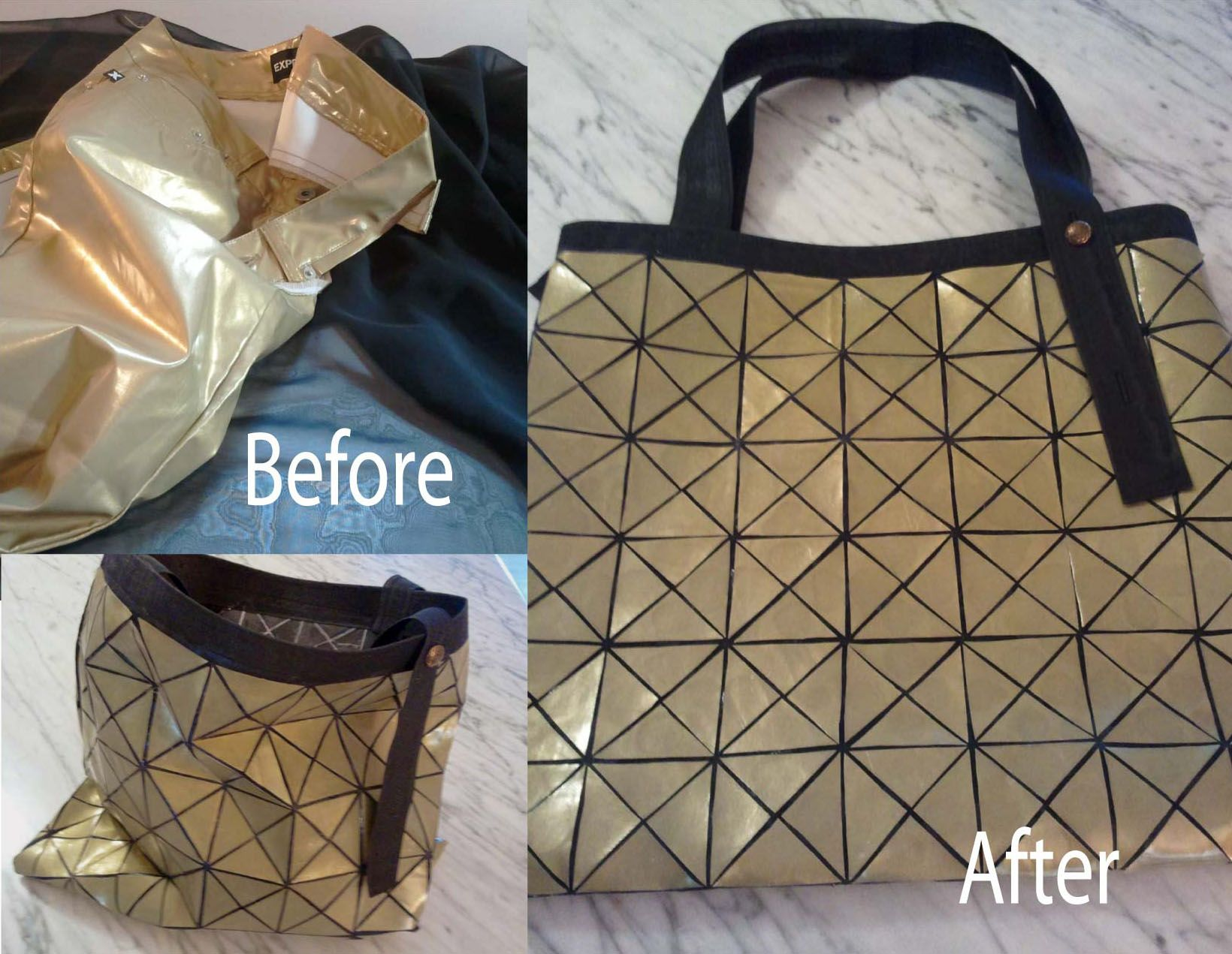 792a597038bb DIY  Upcycled pants bag (Inspired by Issey Miyake Bao Bao Bag)  BaoBaoBag